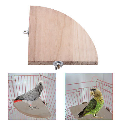 Pet Parrot Wooden Platform Stand Rack Hang Toy Hamster Perches For Bird Cage LJ