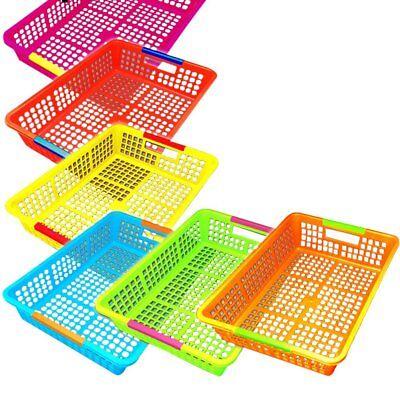Paper Organizer Basket Classroom Plastic File Holder 6-pack