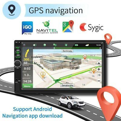 7 inch HD Android 9.1 Car Stereo 2GB +32GB GPS Navigation WiFi USB Radio FM