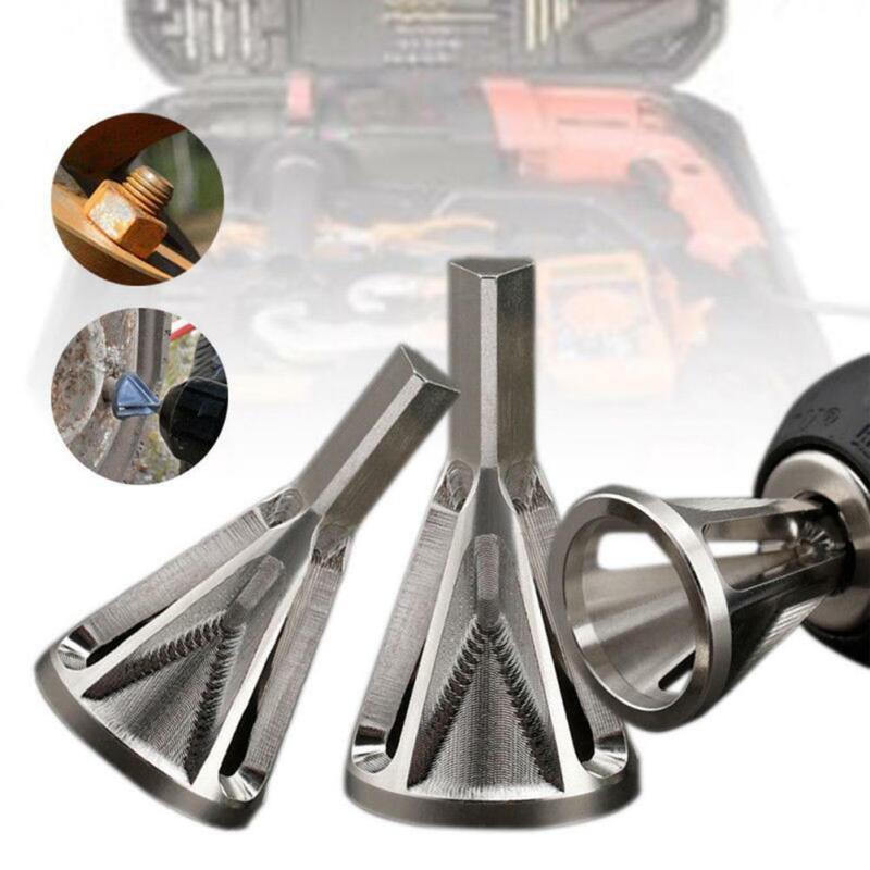 DRILLFORCE Deburring External Chamfer Tool Stainless Steel Remove Nut Burr Drill   eBay