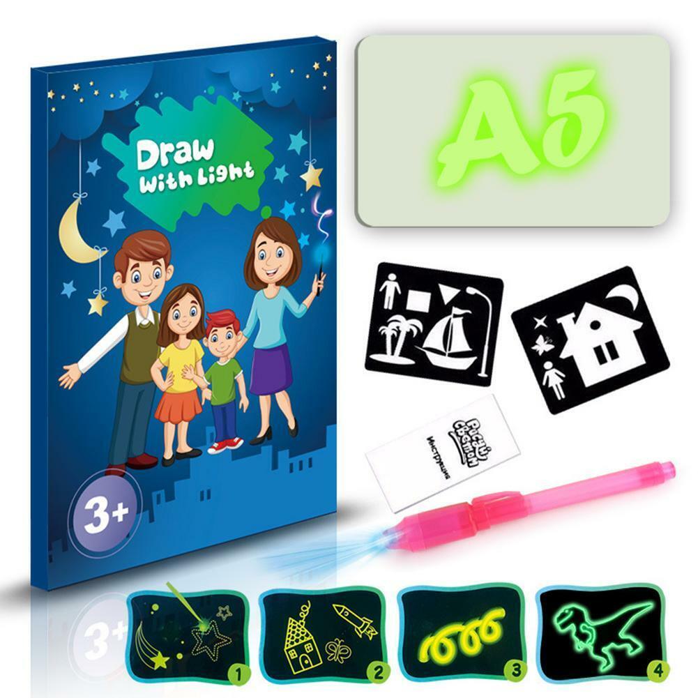 A3 A4 A5 LED Luminous Drawing Board Graffiti Doodle Tablet w