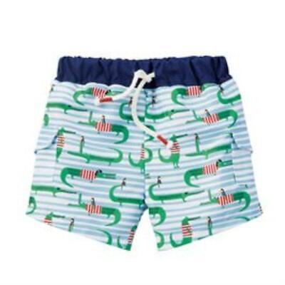 Mud Pie Kids Boys Marco Polo Collection Alligator Swim Trunks
