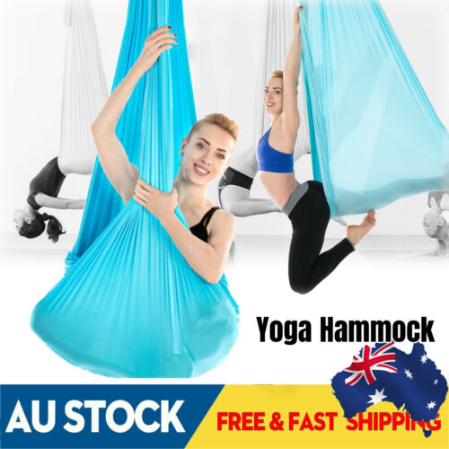 Aerial Yoga Hammock Sling Swing Trapeze Invertion Anti-Gravity Home Gym Fitness