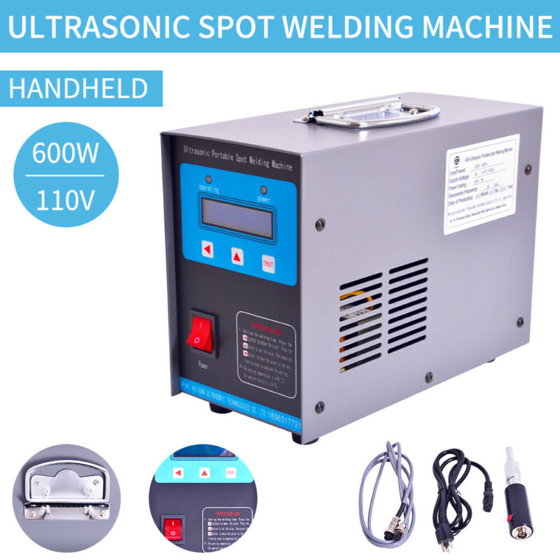 110V, 600W Portable  Ultrasonic Spot Welding Machine  Ultrasonic Plastic Welder