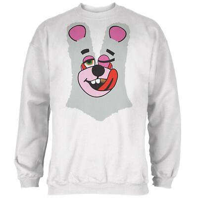 Halloween Twerk Bear White Costume Inspired by Miley Cyrus Mens Sweatshirt - Mens Bear Halloween Costume