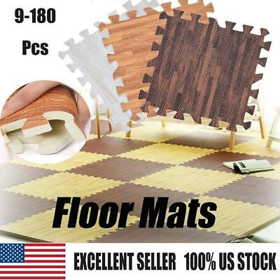 Imitation Wood Soft Foam Floor Mats Gym Exercise  Home Kids Play Pads -