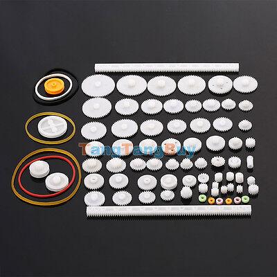75 Kinds Plastic Shaft Single Double Reduction Crown Worm Gears Diy Robot Hot