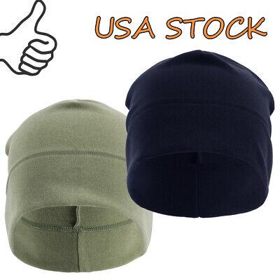 Cold Weather Fleece Skull Cap/Helmet Liner Warmer Hat - Ear Cover Cap Beanie