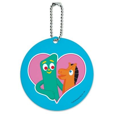 Gumby Pokey BFFs Best Friends Forever Round Luggage Card Carry-On ID
