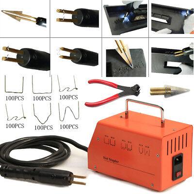 110v Car Hot Stapler Plastic Repair Welder Welding Machine With 600pcs Staples