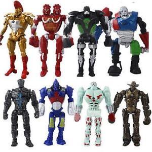 8pcs/Set Movie Real Steel Zeus Atom Midas Noisey Boys Action Figures Robot Toys