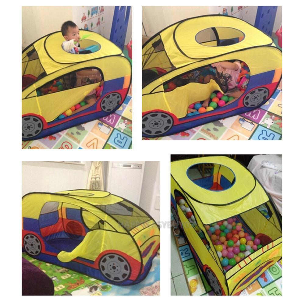 Kids Car Play Tent Indoor Play House Outdoor Camping Hut Children ...