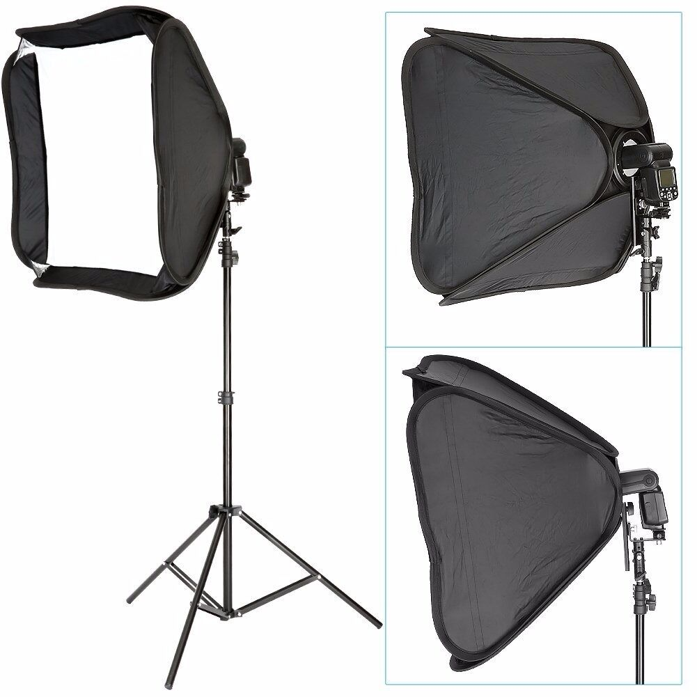 Portable Off-Camera Flash Softbox & Stand Kit for Canon