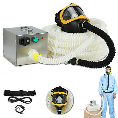 20m 66ft Long Pipe Electric Supplied Air Fed Full Face Gas Mask Respirator