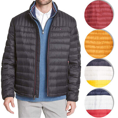 Tommy Hilfiger Men's Ultra Loft Mock Neck Packable Puffer Coat Jacket Clothing, Shoes & Accessories