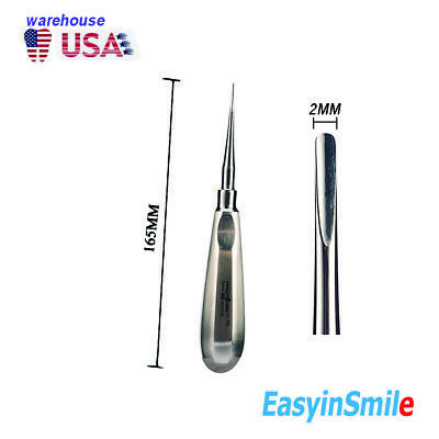 1pc Dental Luxating Elevator 3mm Root Canal Apical Coupland Concave Extraction