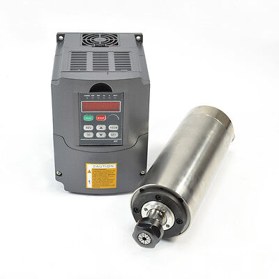 Hy 2.2kw Water Cooled Motor Spindle Drive Inverter Vfd 80mm Ce Quality
