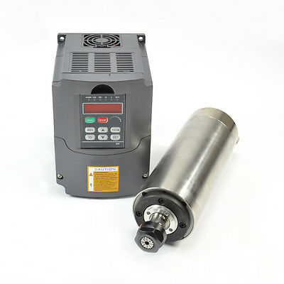 Hy 2.2kw Water Cooled Motor Spindle Drive Inverter Vfd 80mm Diameter Cnc