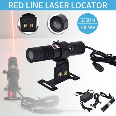 635nm 130mw Red Line Laser Locator Module Stone Wood Cut W 5v Adapter 100-220v
