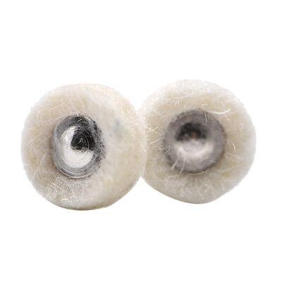 2pcs Dental Prophy Polishing Brush Wool Alumina Cotton Felt Pads Wheel Buffing