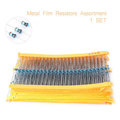 2425pcsset Metal Film Resistor 1 18w 0.125w Resistor Assortment Assorted Kit