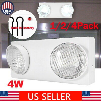 1-4x 4w 10led Ultra-bright Wall Emergency Exit Sign Light Led Ceiling Mount Lamp