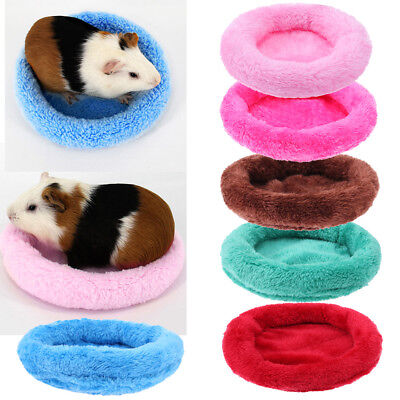 Lovely Guinea Pig Bed Animal Winter Cage Mat Hamster Hedgehog Sleeping House S-L
