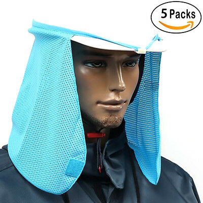 5p Hard Hat Sun Shield Shade Uv Protection Neck Face Mask Helmet Cooling Cover