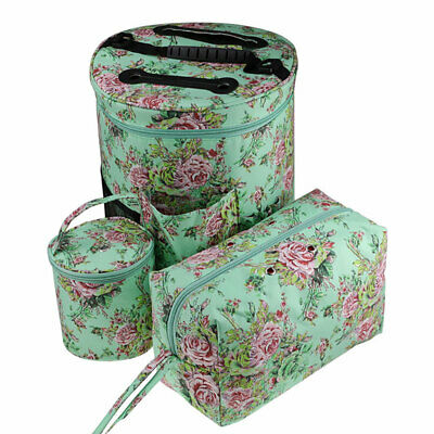 Portable Knitting Yarn Storage Tote Bag Crocheting Needle Hooks Organizer Pouch Crafts