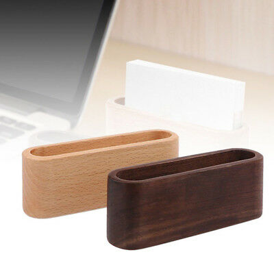 Container Display Device Desk Organizer Wooden Business Card Holder Name Card