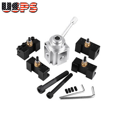 Aluminum Alloy Quick Change Tool Post Lathe Holder Kit For 7x10 1214 Us