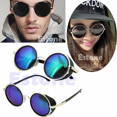50s Round Glasses Classic Cyber Goggles Steampunk Sunglasses Retro Style (Cyber Glasses)