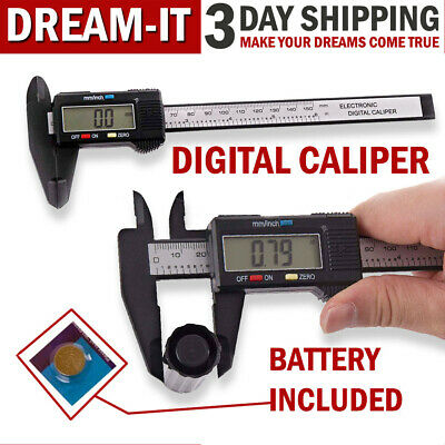Digital Caliper Electronic Measuring Vernier Micrometer Guage Depth Ruler Tool