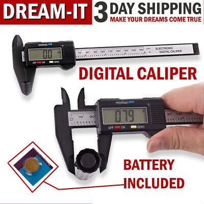 Digital Caliper Electronic Measuring Vernier Micrometer Guage Depth Ruler Tool