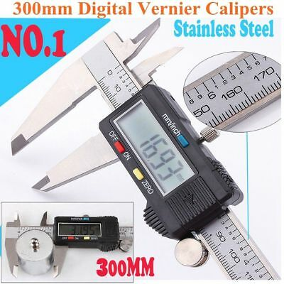 300mm 12 Electronic Digital Caliper Stainless Lcd Gauge Vernier Tool With Box