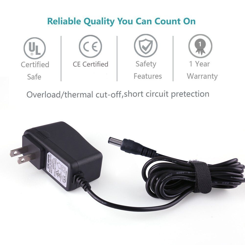 AC Converter Adapter DC 9V 1A 1000mA Power Supply Charger US plug 5.5 x 2.1mm