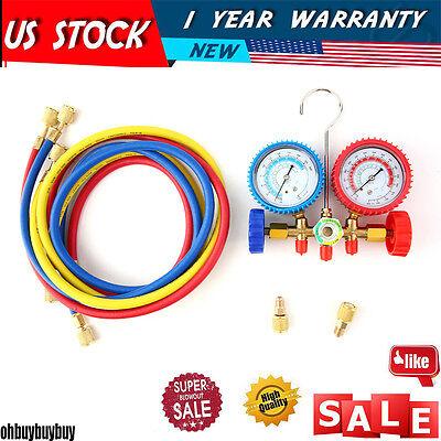 R410a R22 Manifold Gauge Set Ac Ac 5ft Color Hose Air Conditioner Hvac60new Ma