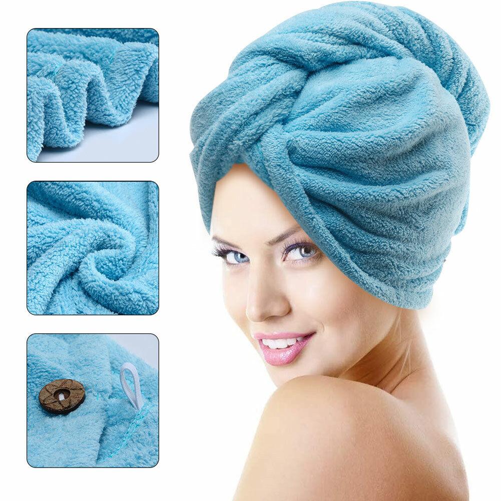 Microfiber Quick Dry Towel Hair Magic Drying Turban Wrap Hat