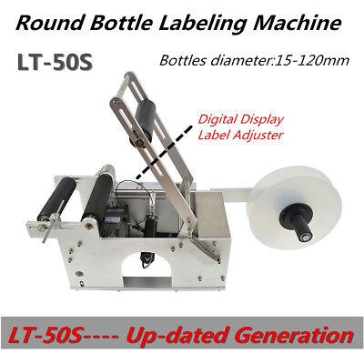 Lt-50s Semi-auto Round Bottle Labeling Machine Labeler High Speed High Accuracy