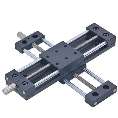 Xy Axis Manual Stage Sliding Table Adjust Platform Aluminium Vav Guide 20mm-80mm