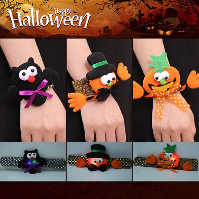Halloween Pumpkin Cartoons ( Halloween Pumpkin Bat Sequin Bangle Wristband Cartoon Bracelet Gift For)
