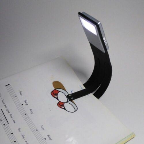 Flexibler Clip auf Buch Licht USB wiederaufladbare Leselampe Licht LED trag K0E2