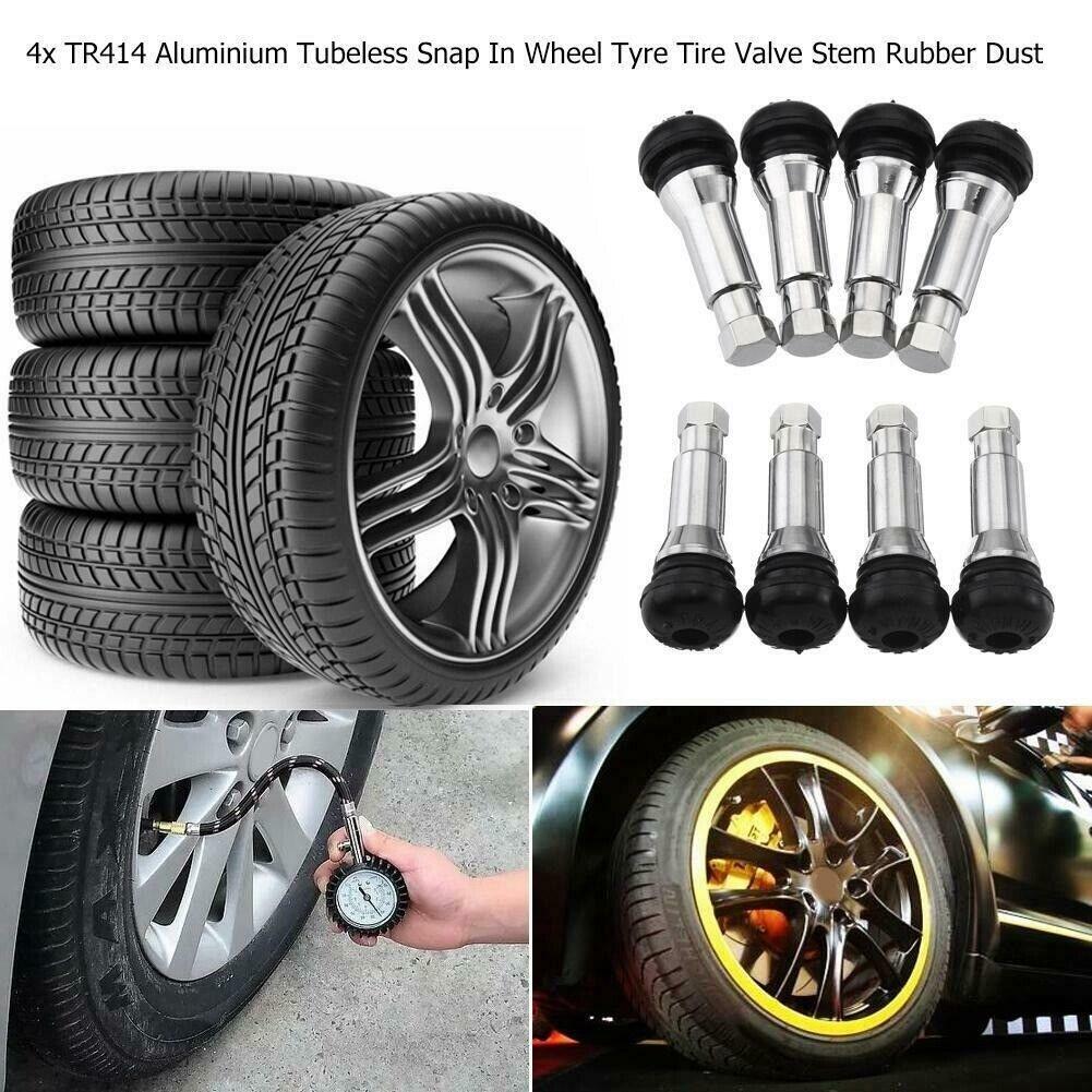 Grenade Style Rims Wheel Tire Valve Stem Caps Aluminum Alloy Black for Auto Car