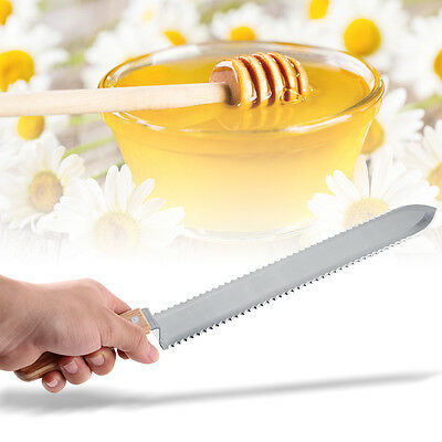 280mm Serrated Blade Honey Extractor Uncapping Knife Beekeeping Equipment Diy
