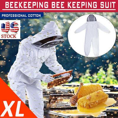 Xl Beekeeper Protect Bee Keeping Suit Jacket Safty Veil Hat Body Equipment Hood