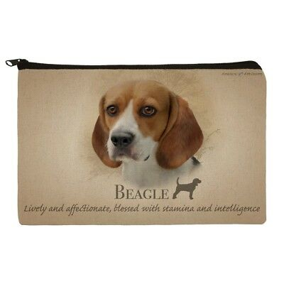 Beagle Dog Breed Makeup Cosmetic Bag Organizer Pouch