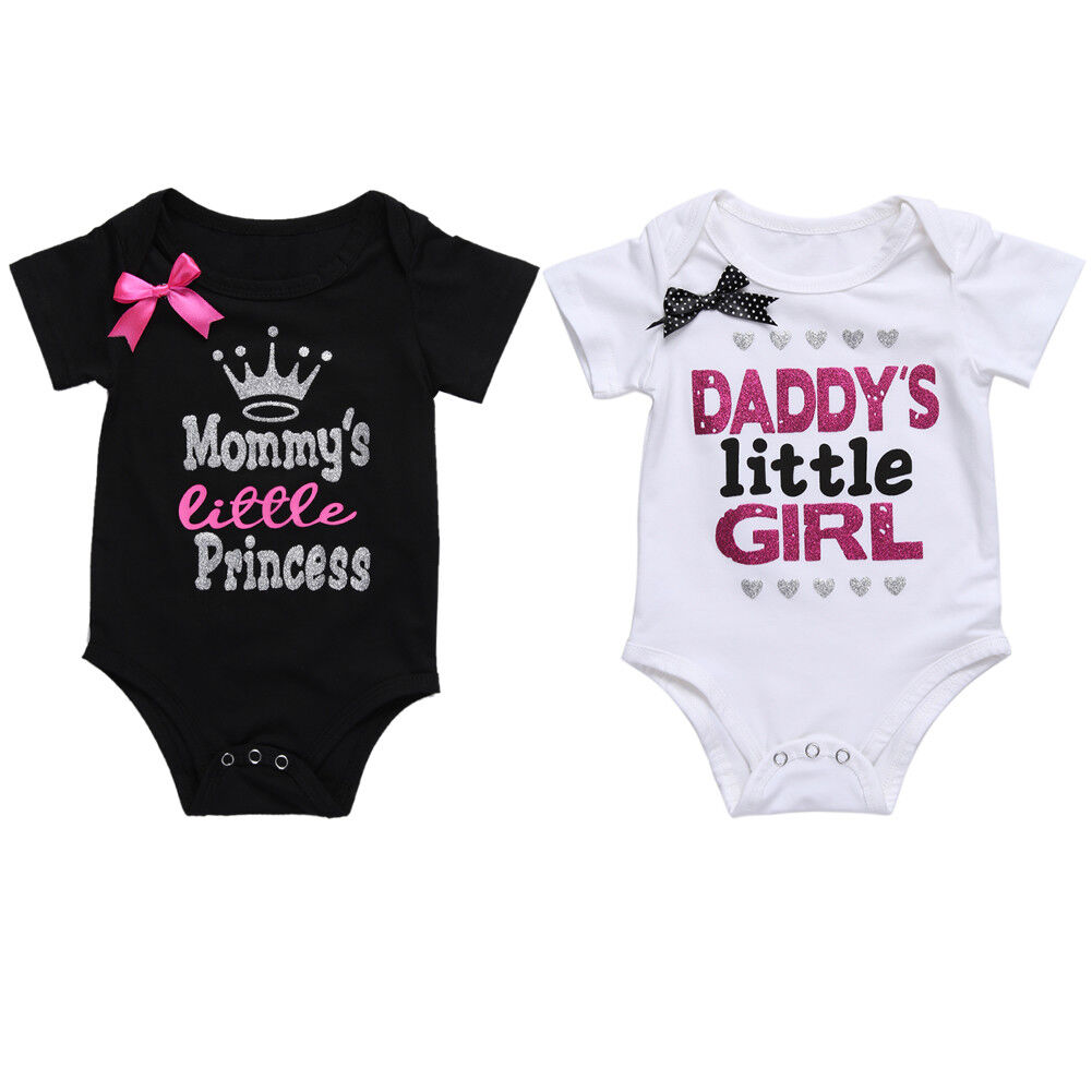 Daddy/'s Little Princess Baby Vest Grow Cute New Pink Girls Fathers Day Gift
