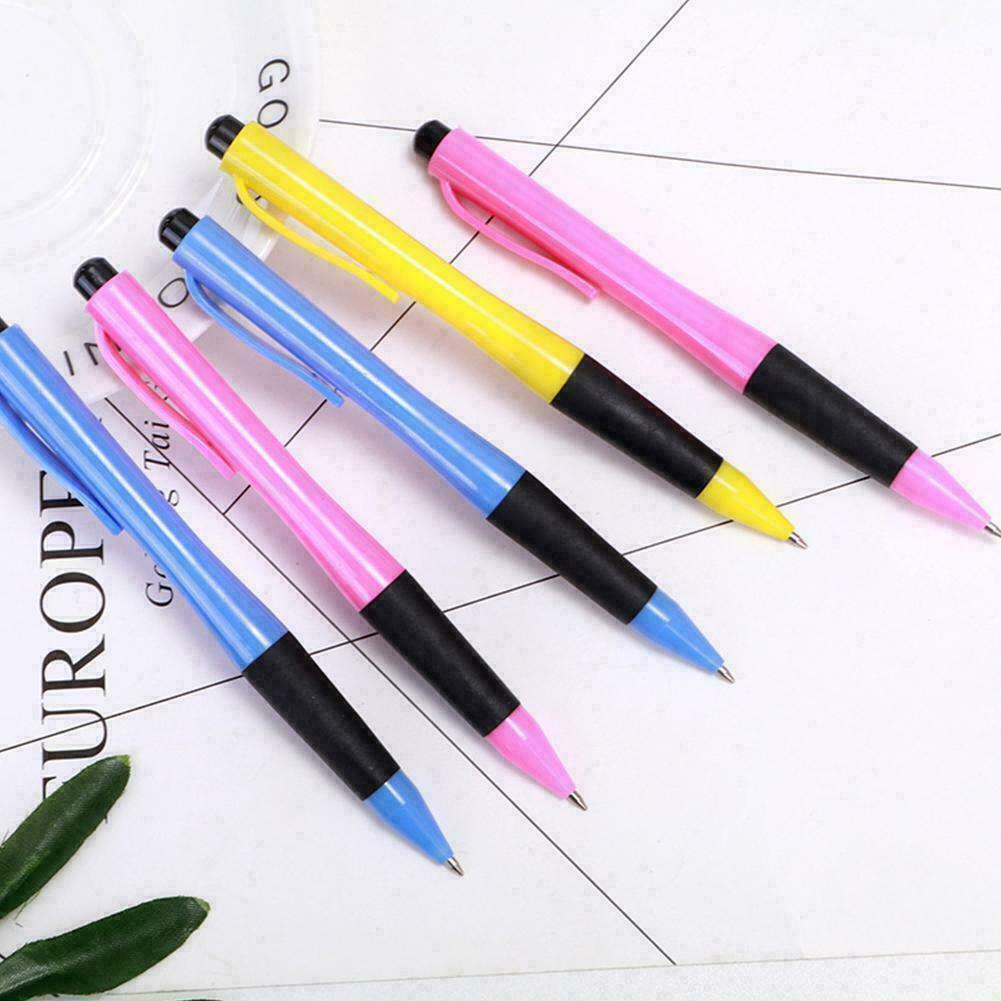 10Pcs Cute Lipstick Ball Point Ballpoint Pen Office Pens Writing Stationery O4T8