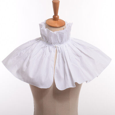 Clown Collar (White Circus Clown Neck Collar Victorian Steampunk Costume Collar Ruffled)