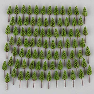 100pcs Model Pine Trees Deep Green For N Z Scale Building Street Layout 38mm, used for sale  USA